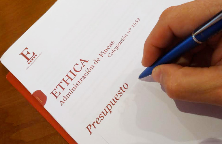 Presupuestos sin compromisos en Ethica Administrador Fincas Alicante